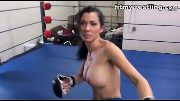Topless MMA Girl with Nice Tits