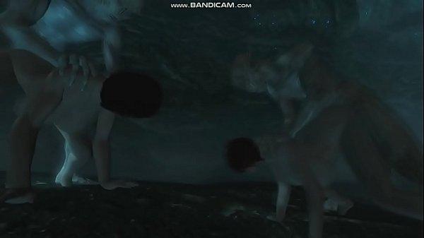 [Skyrim] Neisa & Yuriana fucked by Falmer