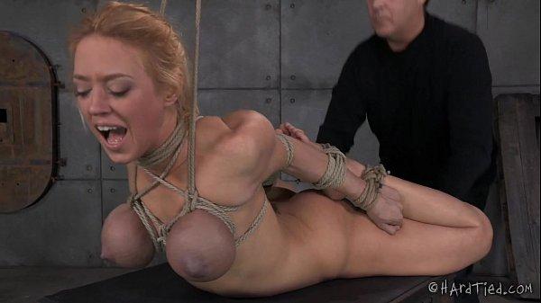 Big Tits Blond In Rope Bondage