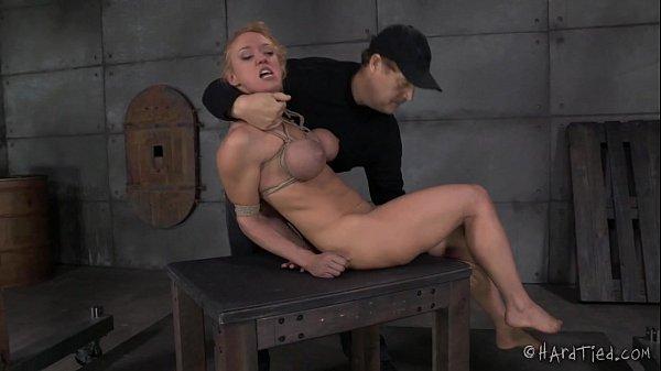 Big Tits Blond In Rope Bondage  thumbnail
