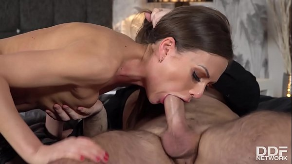 Sperm-hungry vamp Tina Kay masturbates while being fucked in doggy style