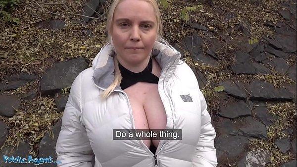 Public Agent fucks blonde Jordan Pryce's massive tits