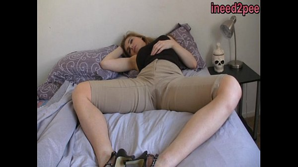 Candle Box female desperation & wetting her jeans