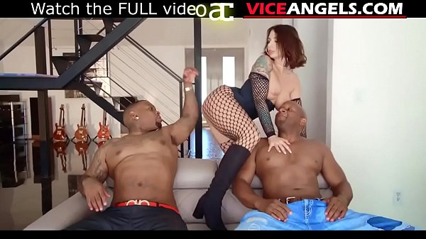Slutty Ivy Lebelle taking black cocks in DP ban...