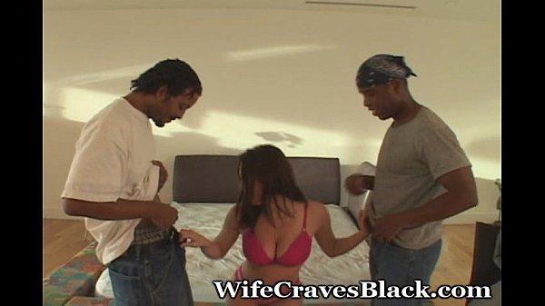 White Wifey Overwhelmed By Black Cocks