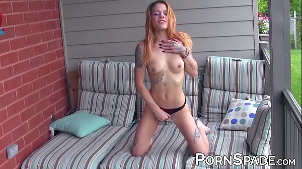 Redhead with a little body makes love at the fr...