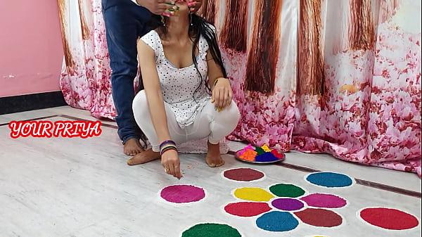 Holi special: भाई ने होली पर खूब रंग लगाया और खूब गांड चुदाई की| साफ हिंदी आवाज़ में