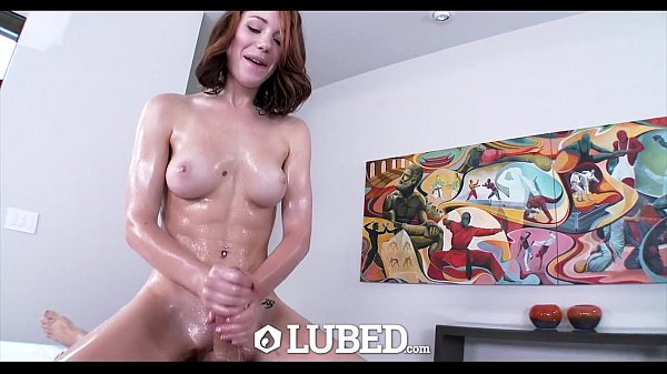 LUBED - Juicy pussy, wet mouth and shiny boots with Raylin Ann