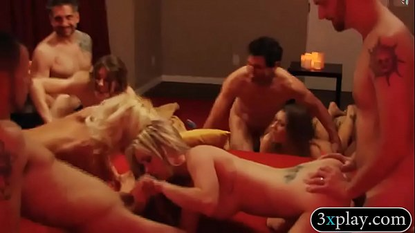 Horny swingers swap partner and orgy in Playboy mansion