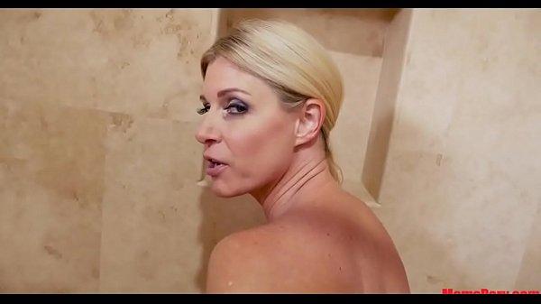 Mom takes son's dick in, in bathtub!