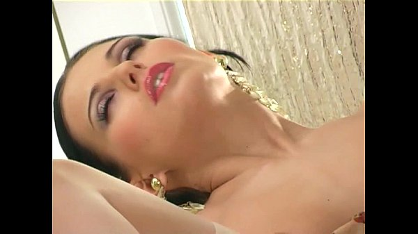 Mili Jay masturbates in heels panties and stocking