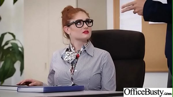Hard Sex Tape In Office With Big Round Tits Sexy Girl (Lennox Luxe) video-19