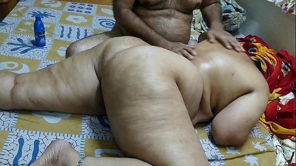 50 YEAR OLD INDIAN STEP MOM FULL BODY MASSGE B...