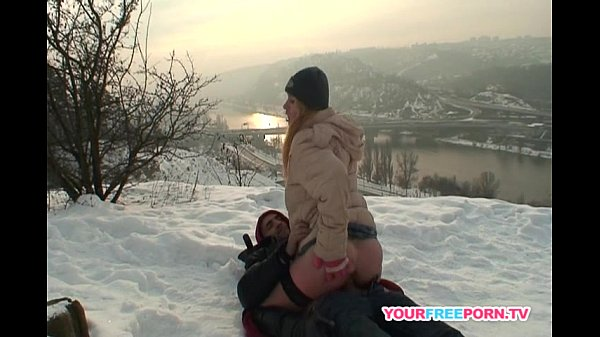 Blonde wife warms stranger's cock in the snow Thumb