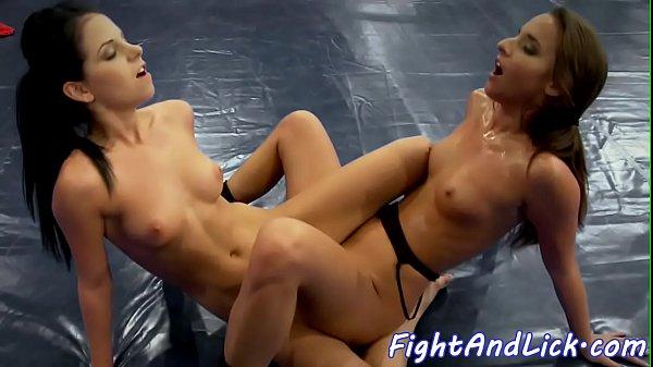 Lesbian eurobabes tribbing after wrestling Thumb
