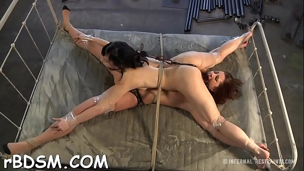 Angel gets her neck restrained and knockers cla...