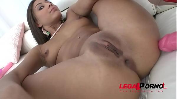 Sexy tight slut Cassie begs for intense anal fucking & Airtight DP