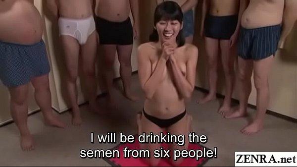 JAV cum drinking gokkun blowjob party Misaki Oi...