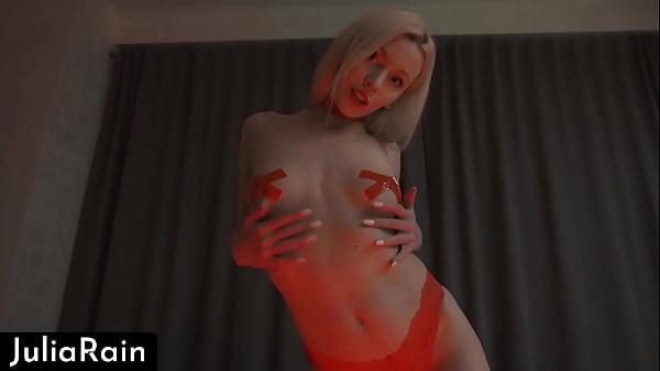 Babe Licks Lollipop, Masturbate Pussy and Handjob Dick - Cum on Ass