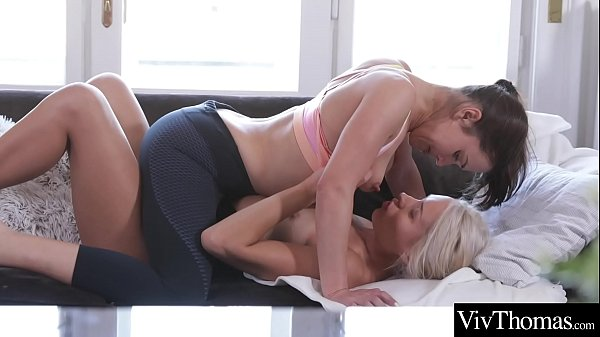 Sexy brunette fucks gorgeous blonde. See her lick her girlfriend's shaved pussy and tight ass Thumb
