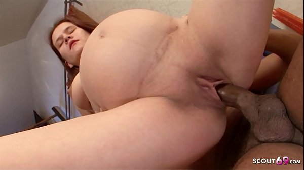 9 Month Pregnant Ginger Teen First Time Big Black Cock Sex Thumb