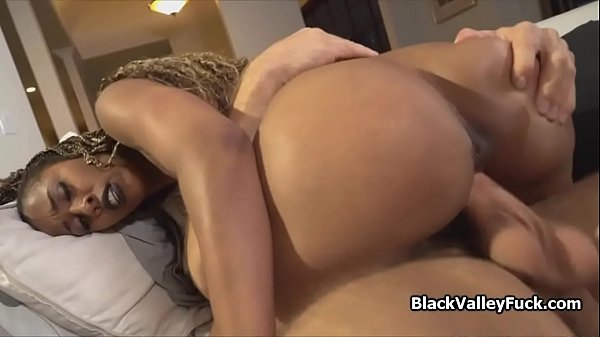Black beauty fucked by her parole officer