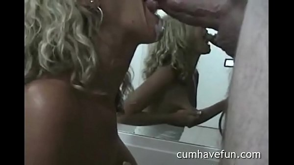 Wife doesn't stop after cum in mouth. Perfect blowjob ending with cumplay. enjoy yourself at cumhavefun.com