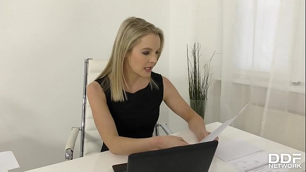 Hot hardcore office sex threesome with blonde babes Tiffany Tatum and Rose
