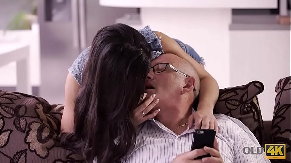 OLD4K. Mature man was very happy to have anal sex with hot mistress