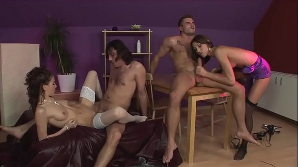 Other than playing cards! Here we have a nice orgy ..