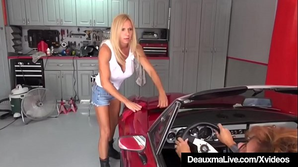 Mature Cougar Deauxma Sexes Up Busty Mechanic Brooke Tyler!  thumbnail