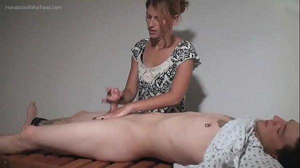 Amatuer Handjobs - Teasing Massage Gal Makes Small Penis Spray Wildly Thumb
