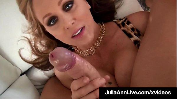 Holy s.! Dick Licking Milf Julia Ann Milks Cock In Her ...