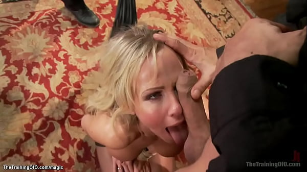 Tied blonde MILF fucked in threesome Thumb