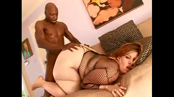 Fat redhaired slut Devious was fucked by big bl...