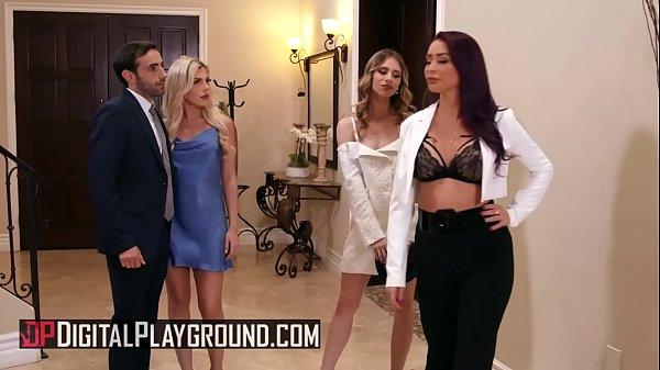 (Anya Olson, Monique Alexander) sharing cock in...