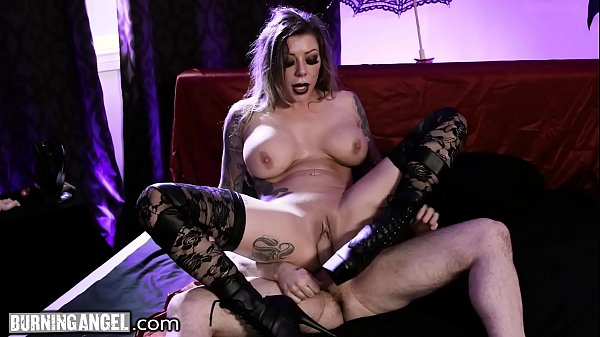 BurningAngel Karma RX gets her goth Pussy Drilled Fast & Hard