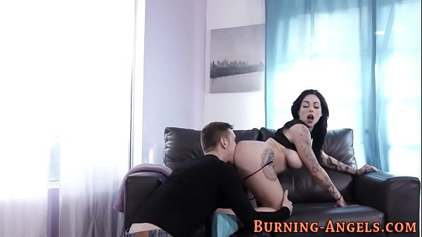 Busty emo babe gets fuck