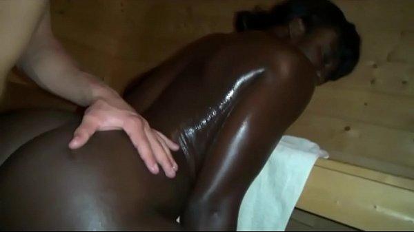 Sauna fun with Ebony