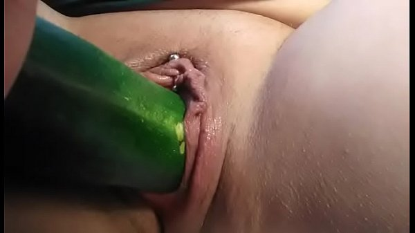 Fucking a courgette
