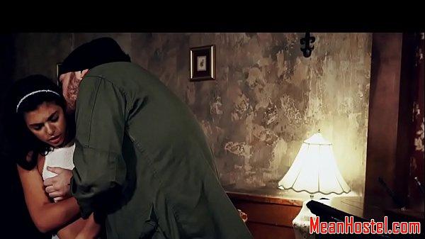 Captured teen dominated at BDSM hostel