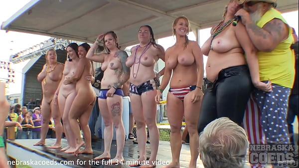 big titty girls getting naked in wet t contest