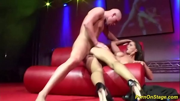 couple fucking on public show stage