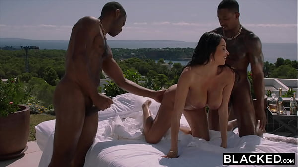 BLACKED Hot French girl gets DPed by two huge B...