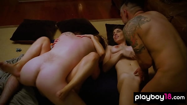 Two hot amateur real american couples testing their new sex toys