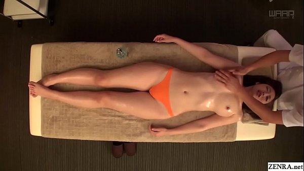 JAV star Asahi Mizuno CMNF erotic oil massage Subtitled Thumb