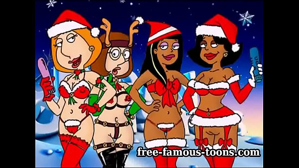 Xmas famous cartoon orgy