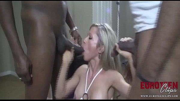 DFWKnight MILF Takes Three Black Cocks In All H...