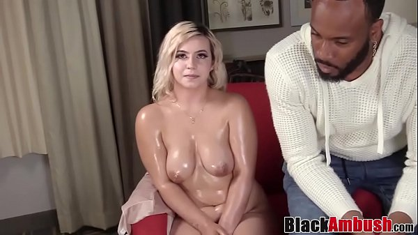 Busty amateur Ivonna tricked into interracial anal banging