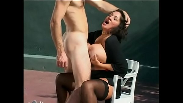 Randy cock sucking babe Rebecca Bardoux is creamed and takes a dick in the cunt on tennis court Thumb